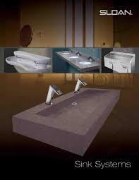 sloan brochure with new designer sinks kitchen u0026 bath news