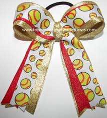 softball ribbon bulk gold softball bow wholesale sparkly softball bow