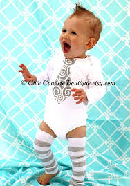 baby boy necktie tie bodysuit and leg warmers set