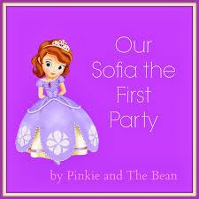 sofia the birthday ideas pinkie bean bean s sofia the birthday party