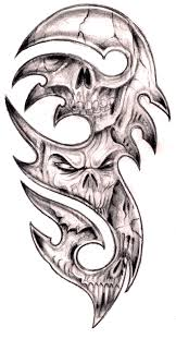 tribal skull and banner tattoo designs photo 2 2017 real photo