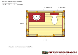 home garden plans oh100 out house plans construction out