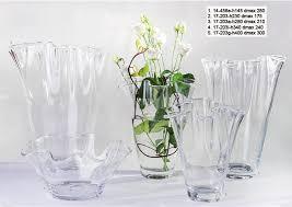 vasi in vetro economici vaso vetro elegante con orlo ondulato alto 23 cm 1pz
