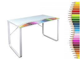 bureau verre trempé plateau bureau verre bureau d angle modulable lepolyglotte charmant