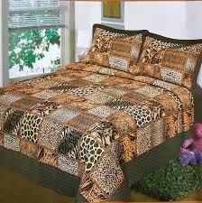 best tiger animal bedding sets fancy collection 3 pc bedspread bed cover brown beige safari tiger giraffe snake leopard bedding