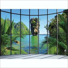 thailand window view wall mural 315cm x 232cm tropical thailand window view wall mural 315cm x 232cm