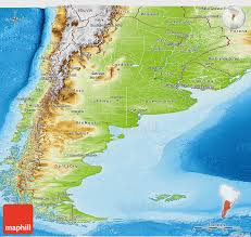 physical map of argentina physical panoramic map of argentina