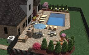 Patio Layout Design 3d Pool Patio And Furniture Layout Landscape Designs
