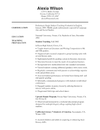 Elementary Education Resume Sample by English Teacher Resume 3 Cv Samples Career Objectives Pinterest