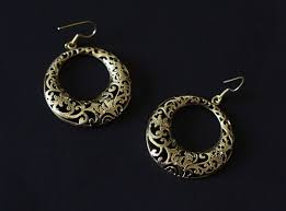 filigree earrings hoop filigree earrings ethnic indian earring indianroute on artfire