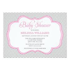 baby shower frames chevron pink frame baby shower invitation card