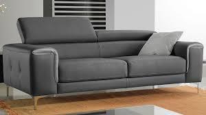 canape trois place canapé 3 places cuir gris canapé italien