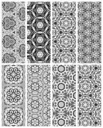 bookmarks printable intricate mandala coloring pages instant