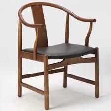 Scandinavian Leather Chairs Dining Room Minimalist Small Creative Black Vintage Modern
