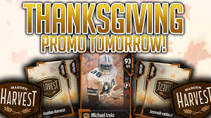 thanksgiving promo comes out tomorrow madden mobile 18