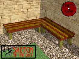 Wooden Deck Bench Plans Free by Deck Bench Chief U0027s Shop