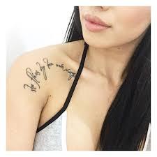 collarbone quote tattoos popsugar