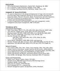 Pmp Sample Resume by Download Junior Network Engineer Sample Resume
