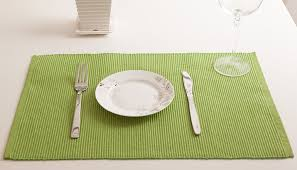 lime green table runner dhrohar hand woven cotton table runner and mat set set of 7 lime