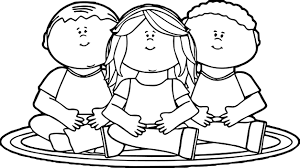 child sitting clipart child coloring page wecoloringpage superhero sick safety pages