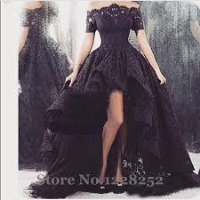 aliexpress com buy 2017 arabic black lace prom dresses high low