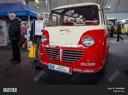 luxury minibus stuttgart germany march 03 2017 luxury minibus goliath express