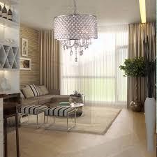 Modern Round Crystal Chandelier Lightinthebox Modern Chandeliers With 4 Lights Pendant Light With