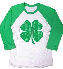 St Patrick U0027s Day Lucky Shamrock Shirt Baseball Raglan