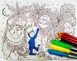 coloring pages kids etsy