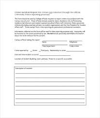 crime report template items to include in a crime report template
