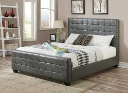 grey leather eastern king size bed steal a sofa furniture outlet
