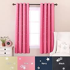 Navy And Pink Curtains Amazon Com Best Home Fashion Star Print Thermal Insulated