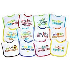halloween baby bibs amazon com neat solutions u0027 12 pack baby u0027s 1st year holiday bibs baby