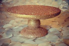 gold cake stands glitter cake stand tutorial deliciously