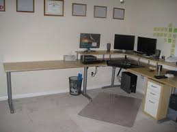 L Shaped White Computer Desk by White L Shaped Desks Making L Shaped Desks Installed In The Wall