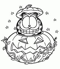 halloween garfield halloween coloring pages kids printable