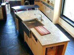 kitchen island with cutting board top built in cutting board sink topbuzz