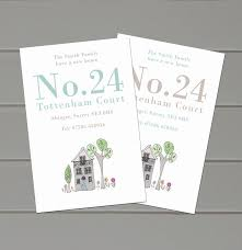 personalised number new address cards by molly moo designs
