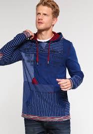 desigual designer desigual hoodie azul tinta sleeve tops cheap desigual