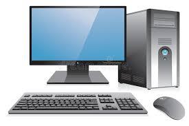 photo d un ordinateur de bureau poste de travail d ordinateur de bureau illustration de vecteur