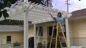 how to hang outdoor party lights weekend warrior project youtube