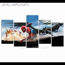 online get cheap spiderman canvas art aliexpress com alibaba group home decoration spiderman child room decor nordic movie posters modular pictures modern frame piece canvas art