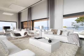 all white home interiors white interior design of modern cliff house