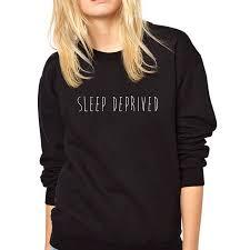 sleep deprived new womens sweatshirt by nappy