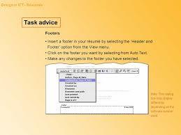 Resume Footer Design In Ict Ppt Download