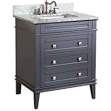 nantucket 30 bathroom vanity carrara charcoal gray