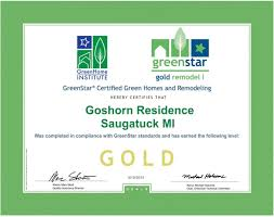 Green Homes by Goshorn Woods Single Family Greenstar Homes Gold Certification