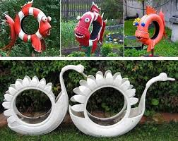 Lawn And Garden Decor 20 Garden Decorations And Kids Toys Made With Recycled Tires