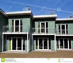 green terraced house front view royalty free stock images image