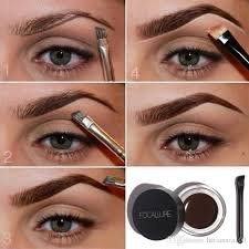 henna eye makeup waterproof high brow pigment black brown henna eyebrow gel brow